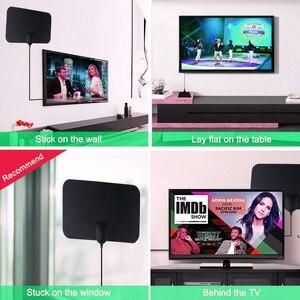 Image 4 - Kebidumei 4K 25DB High Gain Hd Tv Dtv Box Digitale Tv Antenne Eu Plug 50 Mijl Booster Actieve Indoor antenne Hd Platte Ontwerp