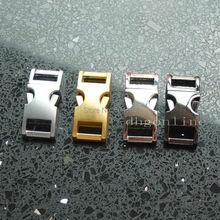 """30 кривых пряжки 3/"""" 10 мм металлическая пряжка для ремешок Ремешок для браслетов воротник, тканевая лента Паракорд"""