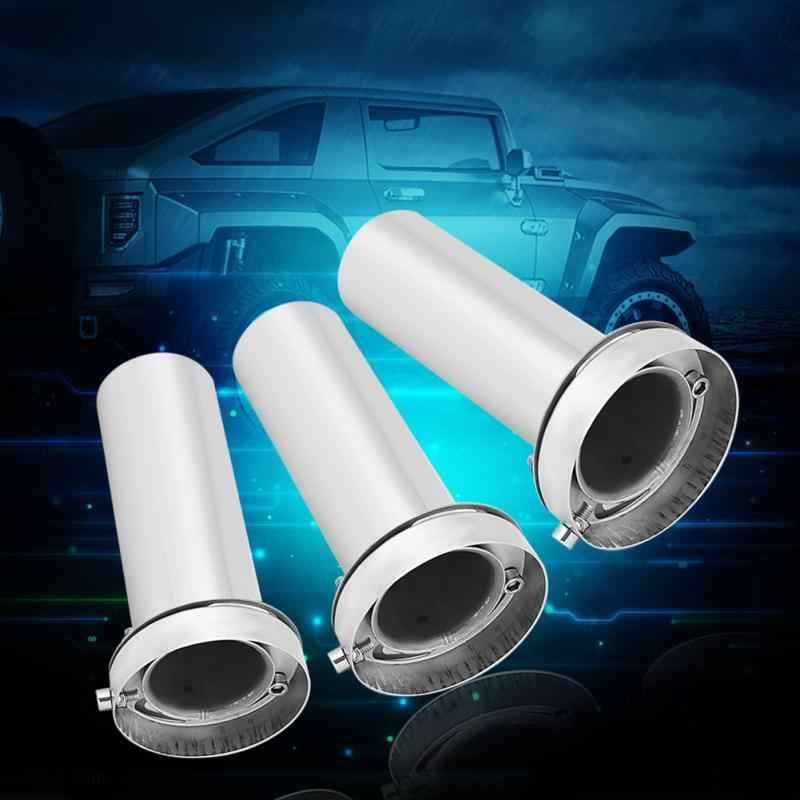 4.5 inch Stainless Steel Made Durable Universal Adjustable 3.5inch//4inch//4.5inch Round Exhaust Muffler Tip Removable Sound Silencer