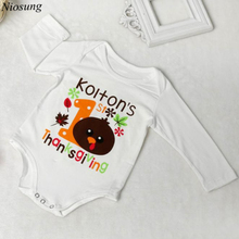 Niosung Newborn Infant Baby Long Sleeve Halloween Print Romper Jumpsuit Clothes Halloween Party Clothes Kids Clothes