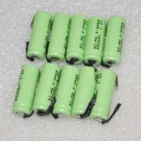 5-10 UNITEK 1,2 V 2/3AAA akku 400 mah 2/3 AAA ni-mh zelle mit schweißen tabs pins flat top für spielzeug schnurlose telefon