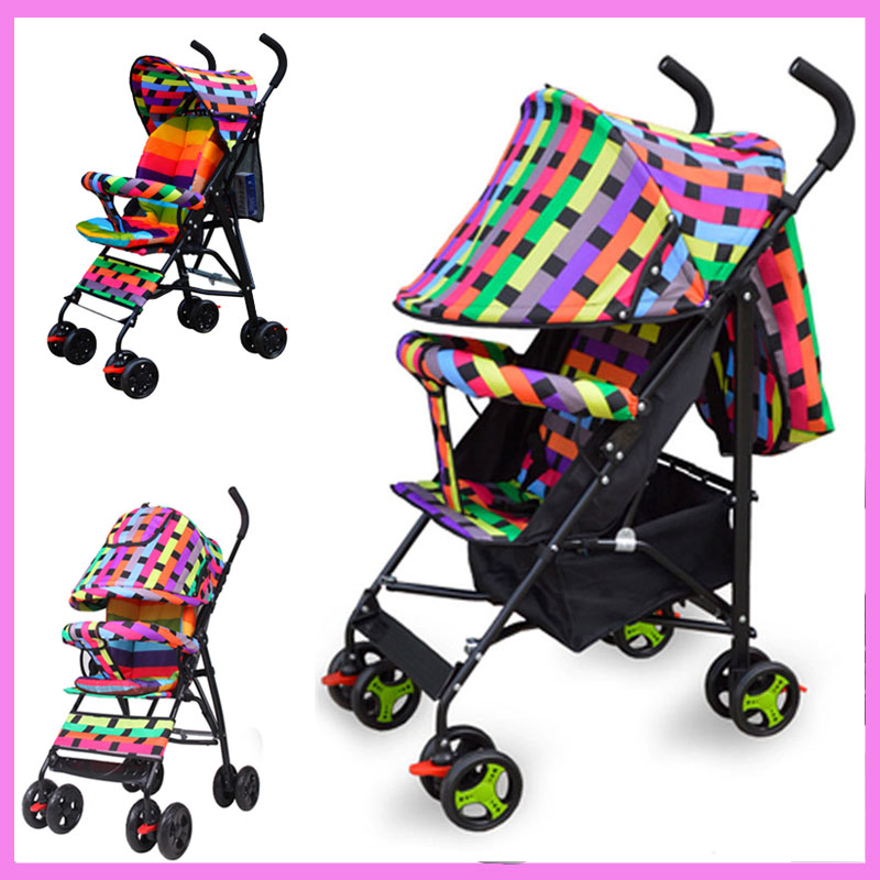 Summer Portable Light Full Half Umbrella Small Baby Stroller for Travelling Quicksmart Folding Baby Pram Pushchair 0~3 Years