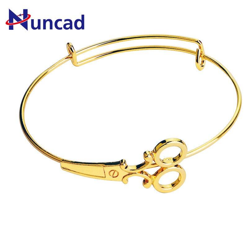 2018 Spring New Pattern Hatch Activity Bracelet Originality Fashion Ma'am Scissors Modeling Bracelet Hand Decorate bangles