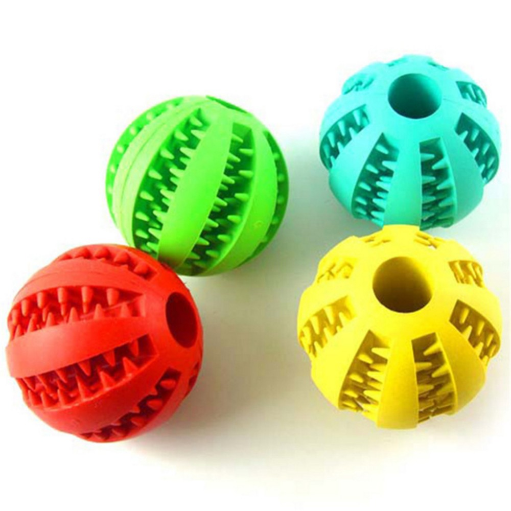 Pet Dog Toy Interactive Rubber Balls Pet Dog Cat Puppy Chew Toys Ball Teeth Chew Toys Tooth Cleaning Balls Food