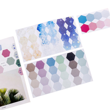 24pcs/pack Gradient Color Hexagon Index Classification Stickers Note Memo Study Office Supplies Sticky Notes Gift