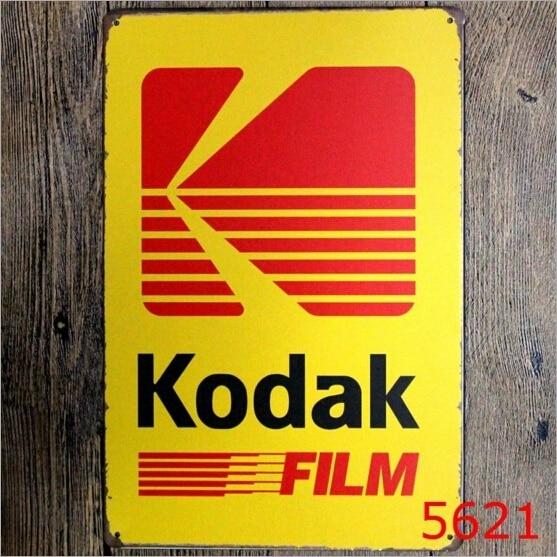 20x30CM Tin Sign Kodak Film Pub Shop Wall Decor Retro Metal Art ...