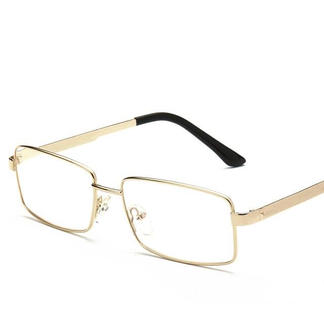f3371ce8ca Laura fée classique métal pleine jante Rectangle Design couleur or lunettes  de lecture femmes hommes 1.00