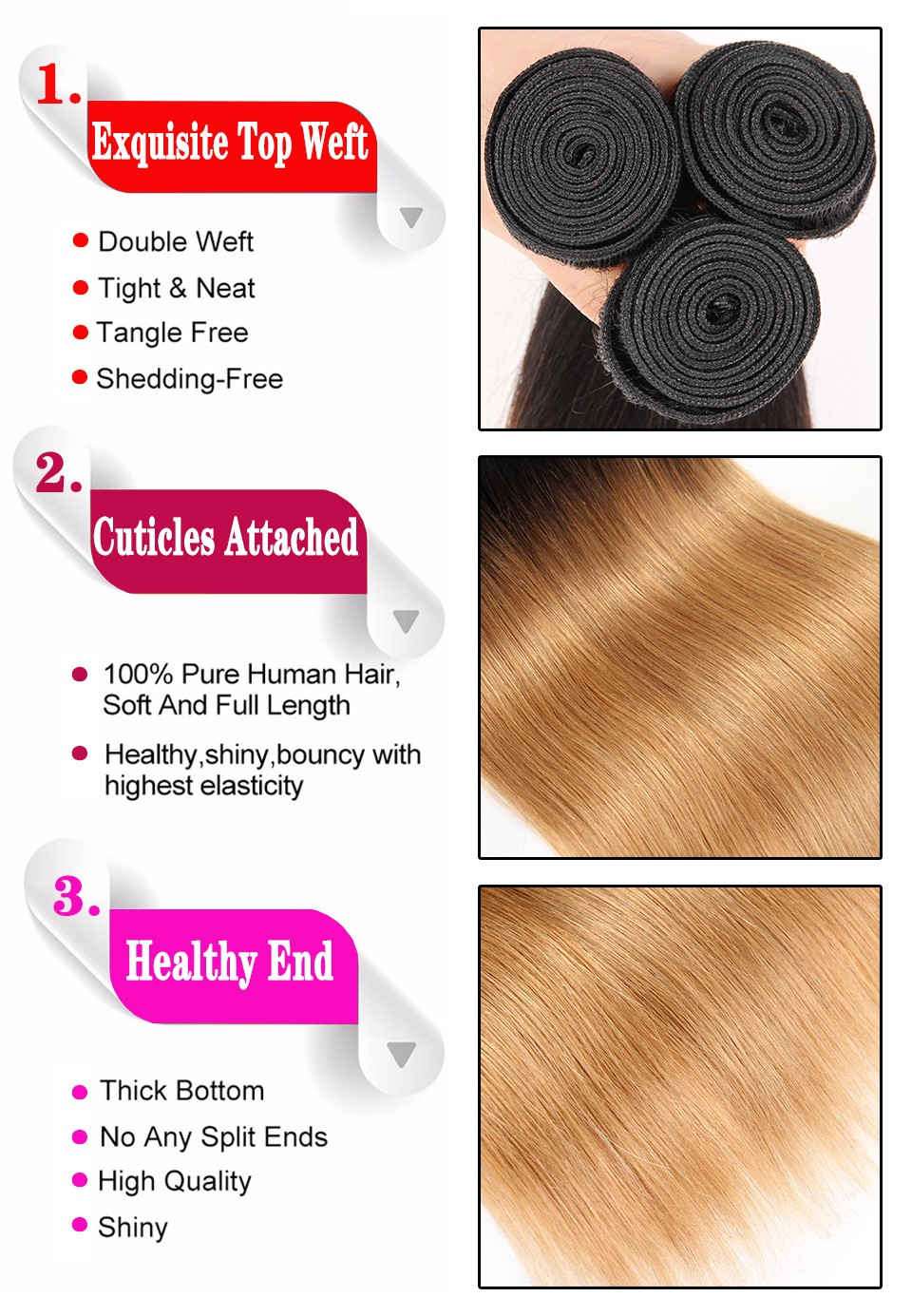 ombre brazilian hair 01
