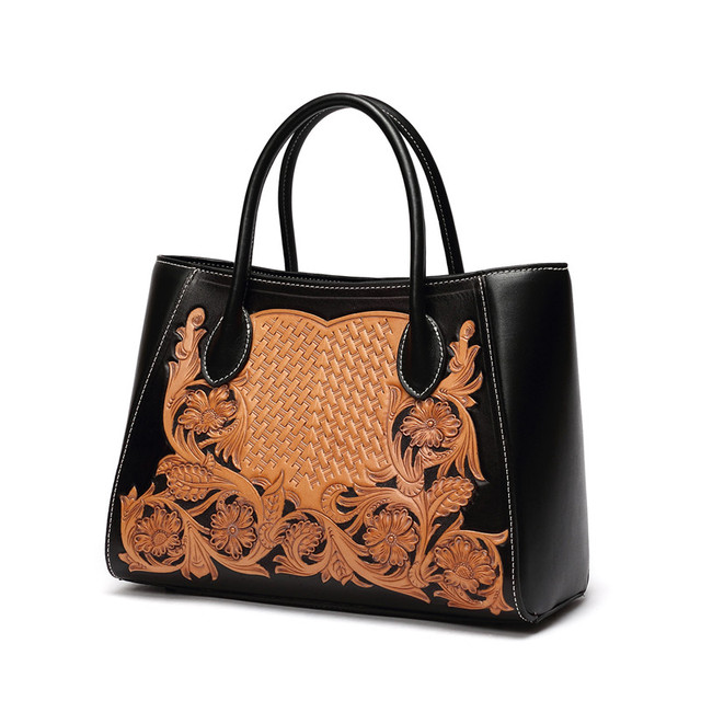 Luxury famous designer handmade flower saffiano handbags genuine leather  bags women leather handbag f32ff55bb0