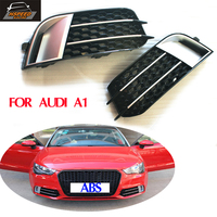 A1 ABS Car Front Fog Lamps Cover Auto Bumper Fog Lamp Trims For Audi A1 2011