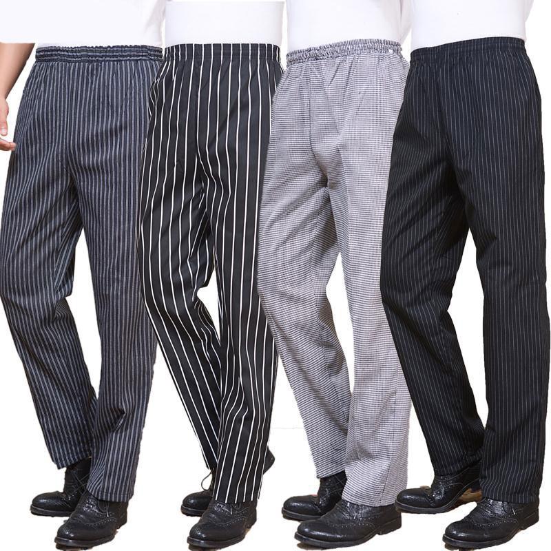 Chef Trouser Elastic Waist With Pocket Men Women Baggy Chef Pant Restaurant Hotel Work Uniforms Trousers Zebra Kitchen Pants