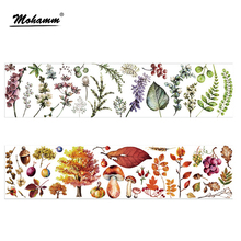 90mm Width Creative Cute Kawaii Four seasons Plants Decorative Washi Tape DIY Scrapbooking Masking Tape School Office Supply
