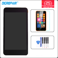 New Black For Nokia Lumia 630 635 Front Glass LCD Display Monitor Touch Screen Digitizer Full