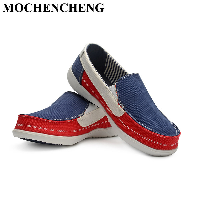 New Men Casual Shoes for Spring Summer Breathable Retro Low Slip-on Canvas Shoes Mixed Color Lazy Loafers Flat Leisure Shoes e lov women casual walking shoes graffiti aries horoscope canvas shoe low top flat oxford shoes for couples lovers