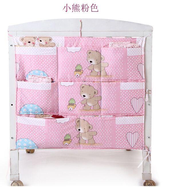 1 unids marca beb cama cuna colgar la bolsa de almacenamiento cuna organizador 62 52 cm - Organizador de cuna ...