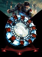 [Funny] 1:1 scale Iron Man Arc Reactor A generation of glowing iron man heart model with LED Light Action Figure Toy Display box