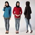 Мода Bronzing Манжеты Турецкий Малайзии Саудовская Дубай Стиль Топы Плюс Размер Блузка Исламская Abayas Мусульманская Одежда Для Женщин