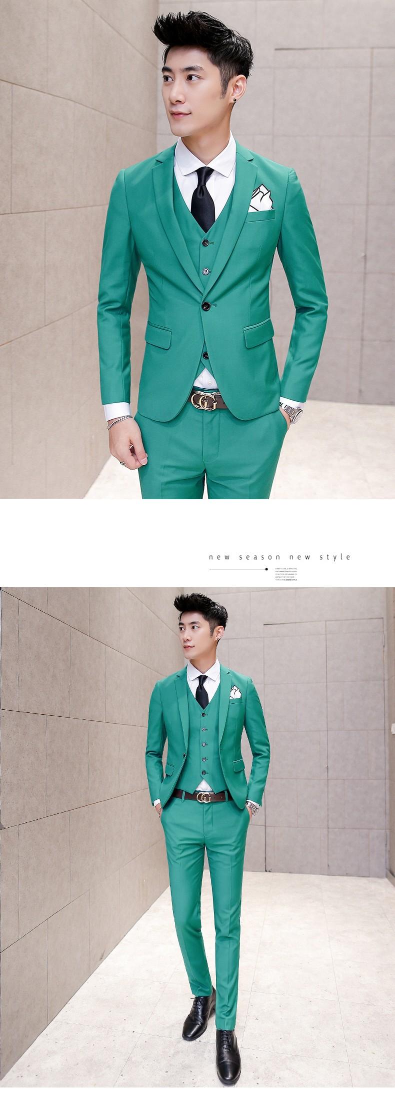 green cream suit