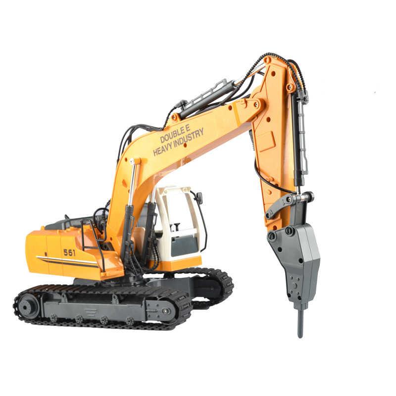1:16 RC Excavator RC Truk 17ch Remote Control Engineering Excavator Multifungsi DIY Paduan Model Kendaraan Mainan Anak Anak