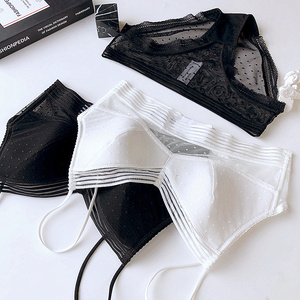 Image 2 - Vrouwen Kanten Beha Set Lingerie Pak Sexy Ondergoed Dames Sexy katoen Bralette Set Bras Comfortabele transparante Ondergoed panty