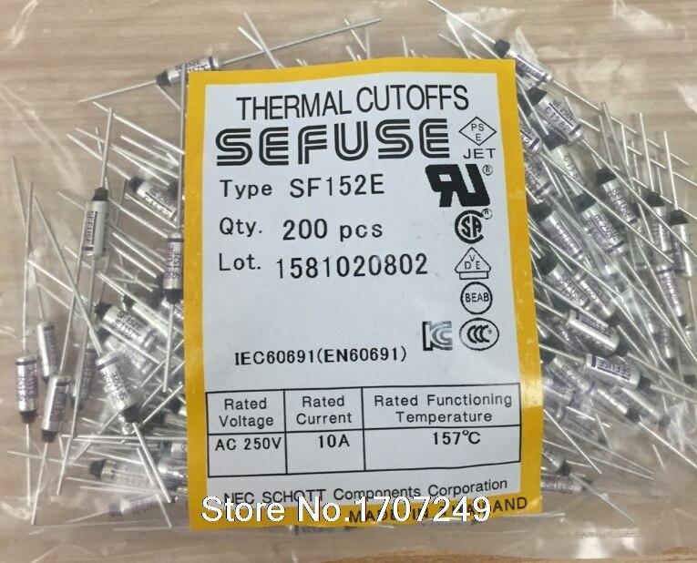 5pcs TF Cutoff Cut-off 10A AC 250V Microtemp Thermal Fuse 128°C 128 Degree New