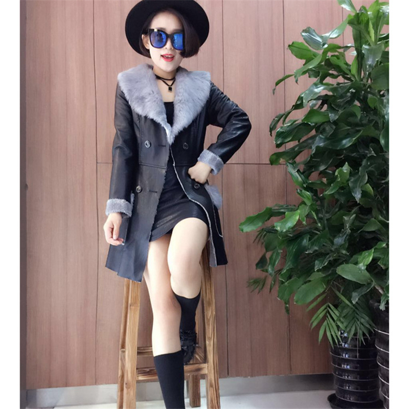 Abner S Garden Center Coupon: Hot! 2017 Abner Winter New Women Warm Long PU Brand