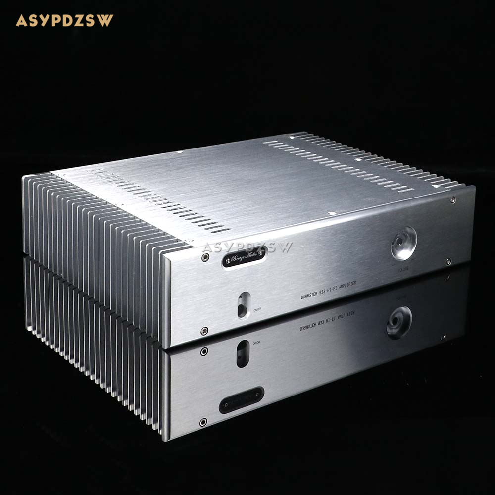BZ3608A Aluminum enclosure Class A Power amplifier chassis /case/box 360*80*268mm case size 360 80 268mm bz3608a the new silver aluminum amplifier chassis pre amplifier chassis amp case enclosure box diy