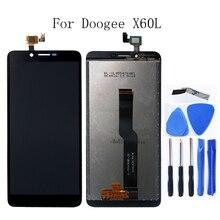 ل Doogee X60L الأصلي شاشة إل سي دي باللمس شاشة 5.5 بوصة ل Doogee X60L الهاتف المحمول عرض الهاتف المحمول اكسسوارات + أداة