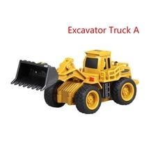 Инженерная Мини Rc грузовик экскаватор Дистанционное Управление Трактор Модель 4-канальный бульдозер грузовик игрушки дистанционного Управление