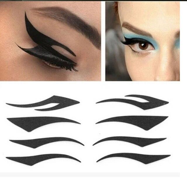 Estilo de moda Gato Temporal Doble Cinta Del Párpado Del Ojo Pegatina Sombra de Ojos Ahumada Tatuaje Herramientas de Maquillaje de Ojos