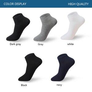 Image 2 - Meias de algodão grande pares/lote, masculinas, 5, size39 48, casuais, respiráveis, curtas, barco, verão