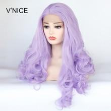 V'NICE Middle Part Natural Long Body Wavy Violet Purple Wig