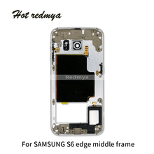 Middle Frame For Samsung Galaxy S6 Edge G925 G925F Silver Gold Black Housing Chassis Plate Bezel Replacement Parts