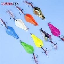 LUSHAZER fishing spoon lure 7g 10g 14g carp fishing bait ice metal lures China hard baits isca artificial spinnerbait