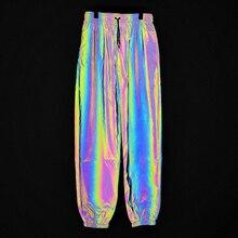 2019 Men 3m Reflective Long Pant Hip Hop Dance Pants Harajuku Hiphop Jogger Night Trousers