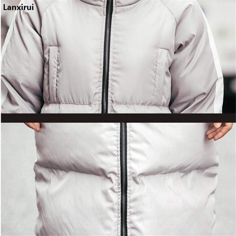2018 Winter Parkas Men Fashion Long Jacket For Men Women Thicken Cotton Padded Winter Coats Couples Hooded Plus Size Parkas in Parkas from Men 39 s Clothing