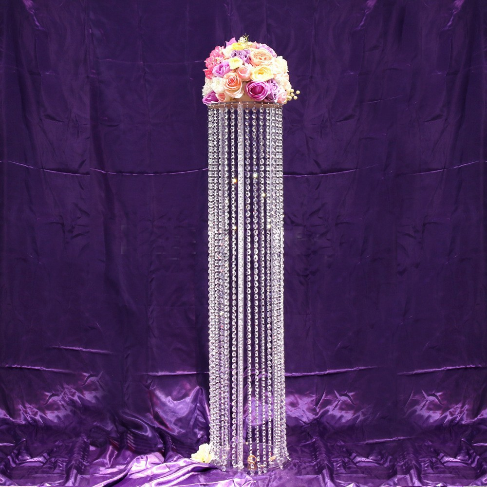 Wedding Flower Pillars: 120cm Tall Wedding Decoration Crystal Road Lead, Crystal