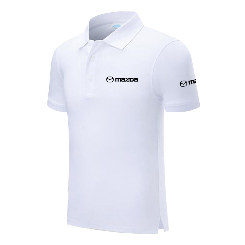 Design Brand Mazda Logo Custom Men and women   Polo   Shirts Plus Size   Polo   Shirt Men Clothing