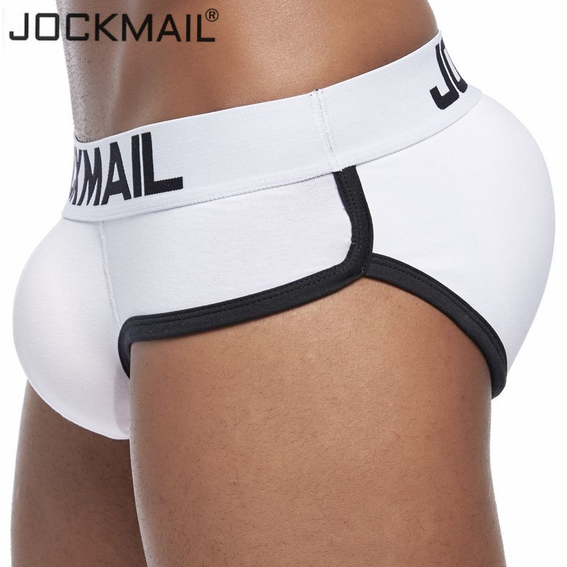 JOCKMAIL Padded Enhancing Bulge Mens Underwear Male Briefs Cotton Sexy Double Removable Push Up Front And Bottom Gay Underwear