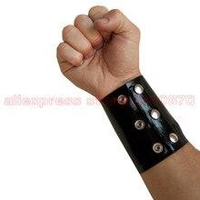 Latex Wrist Strap Wristband Spire Lamella Wristlet Rubber Latex HerringBone Wrist Wallets S-LA082