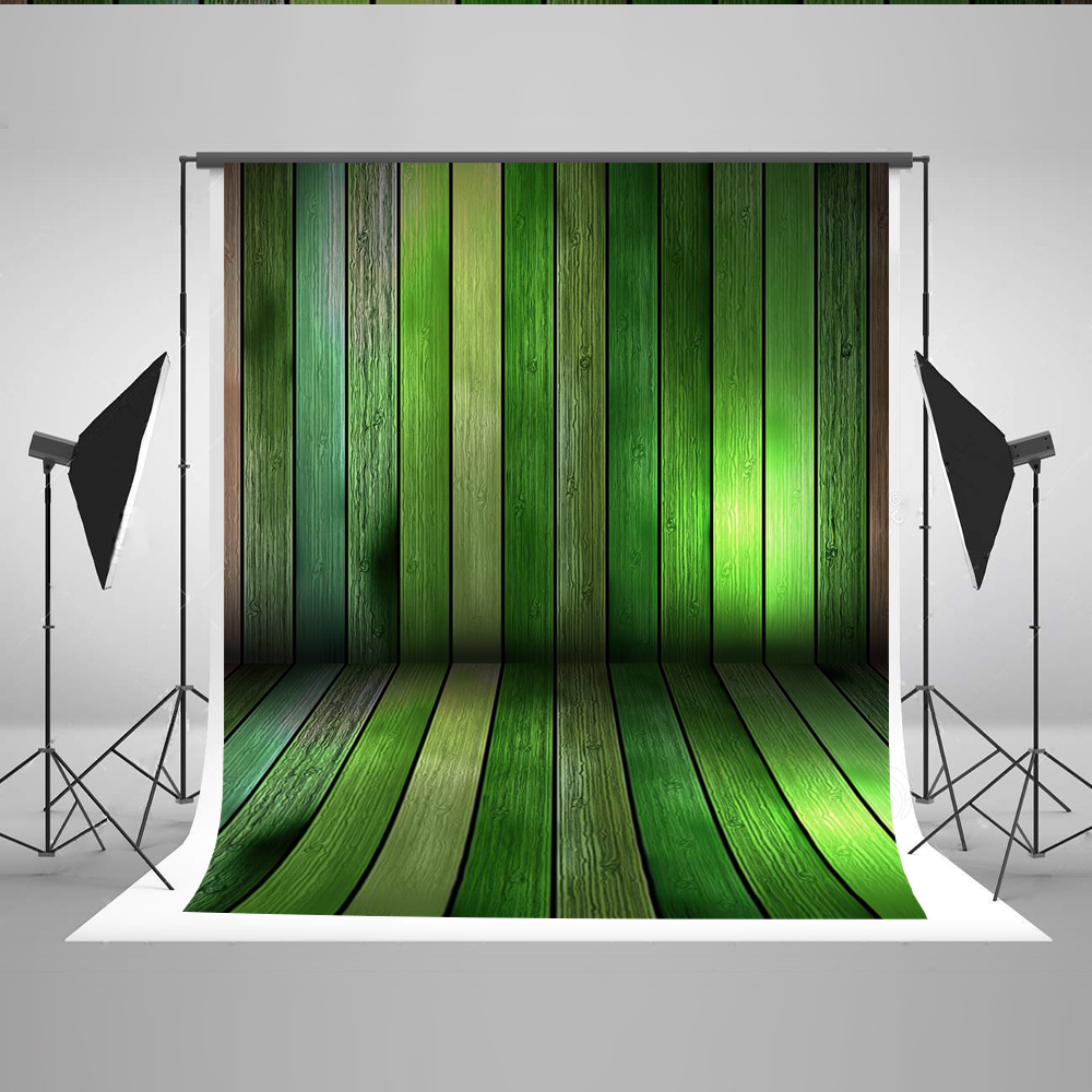 KATE Photo Background Green Wood Photography Backdrops Children Photographic Backgrounds Wood Floor Background for Photo Studio