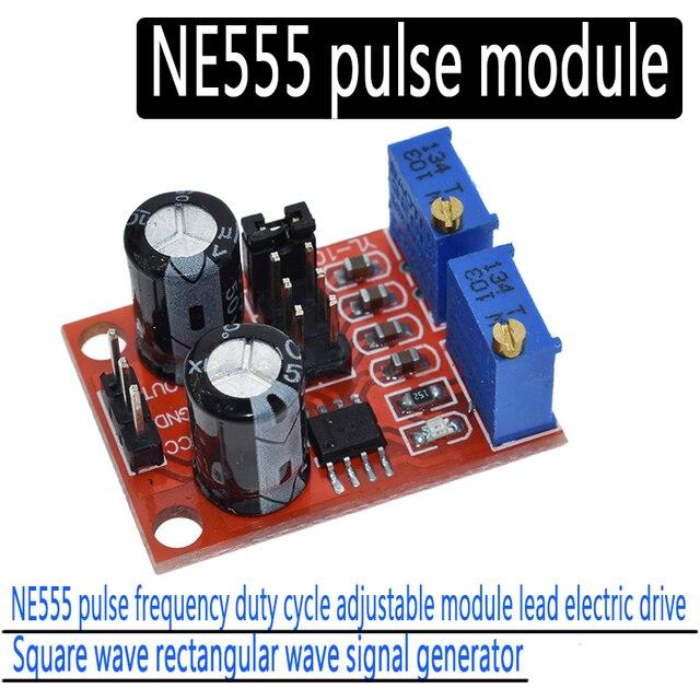 1 шт. NE555 частота импульсов, рабочий цикл регулируемый модуль, разноцветного квадратного/генератор для шагового двигателя генератора сигналов, Драйвер шагового двигателя