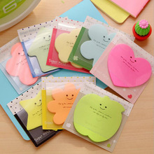 6 pieces/ Kinds Of Colors Ruiqi Star Smile Cute Notes Attached To The Paste Material Learning Office Stationery Stickers