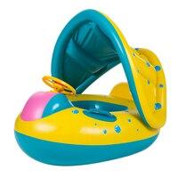 שמשיה מתכוונן בטיחות תינוק שחייה לצוף מושב מתנפח סירת טבעת לשחות בריכת ילדי משחקי מים לילדים לשחות סירת צעצוע
