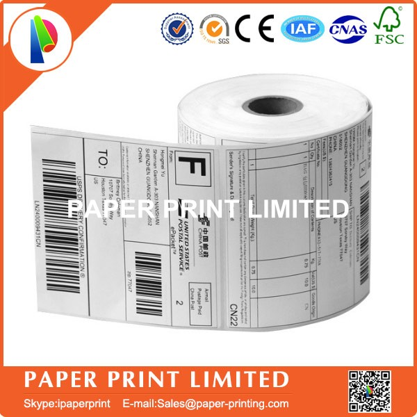 5 Rolls Address adhesive stickers labels 100*100mm*500 sheets thermal papers for labeling and sealing marks