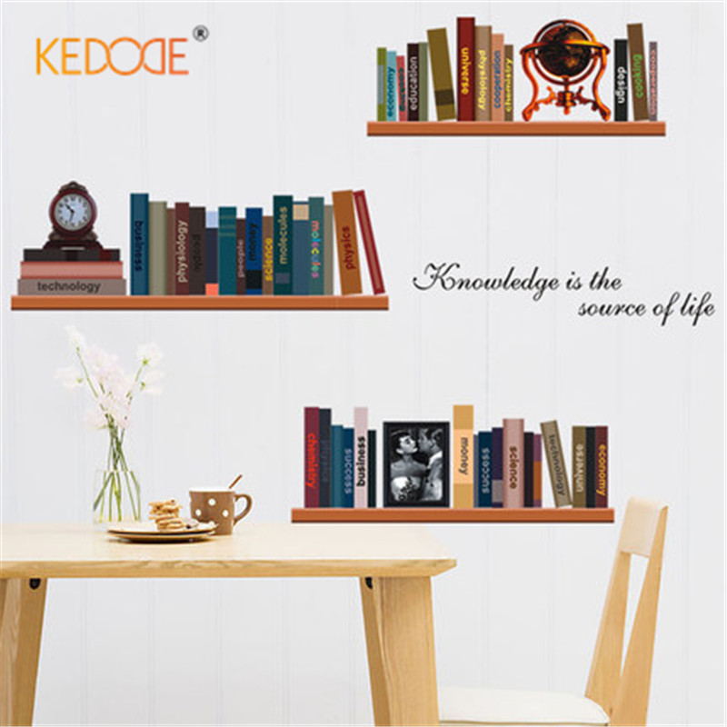 KEDODE Wall sticker book living room bedroom study sofa TV background wall simple fashion home decoration stickers office layout