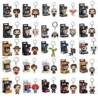 Llavero Funko Pop figuras de juguete de acción Juego de tronos Harri Potter animales fantásticos llaveros de bolsillo modelo muñeca juguetes coleccionables