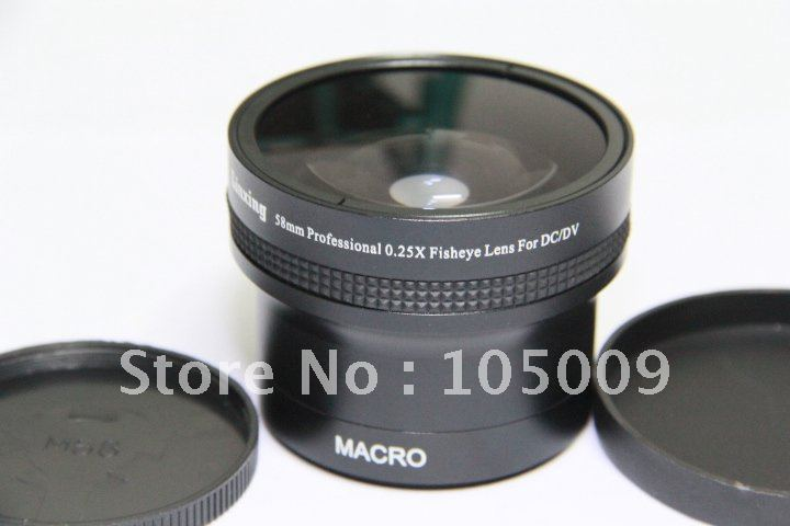 0.25x 58mm Wide FISH EYE Fisheye LENS with 12.5 Macro lens black clip on fish eye 0 67x macro lenses set for cell phone black gold