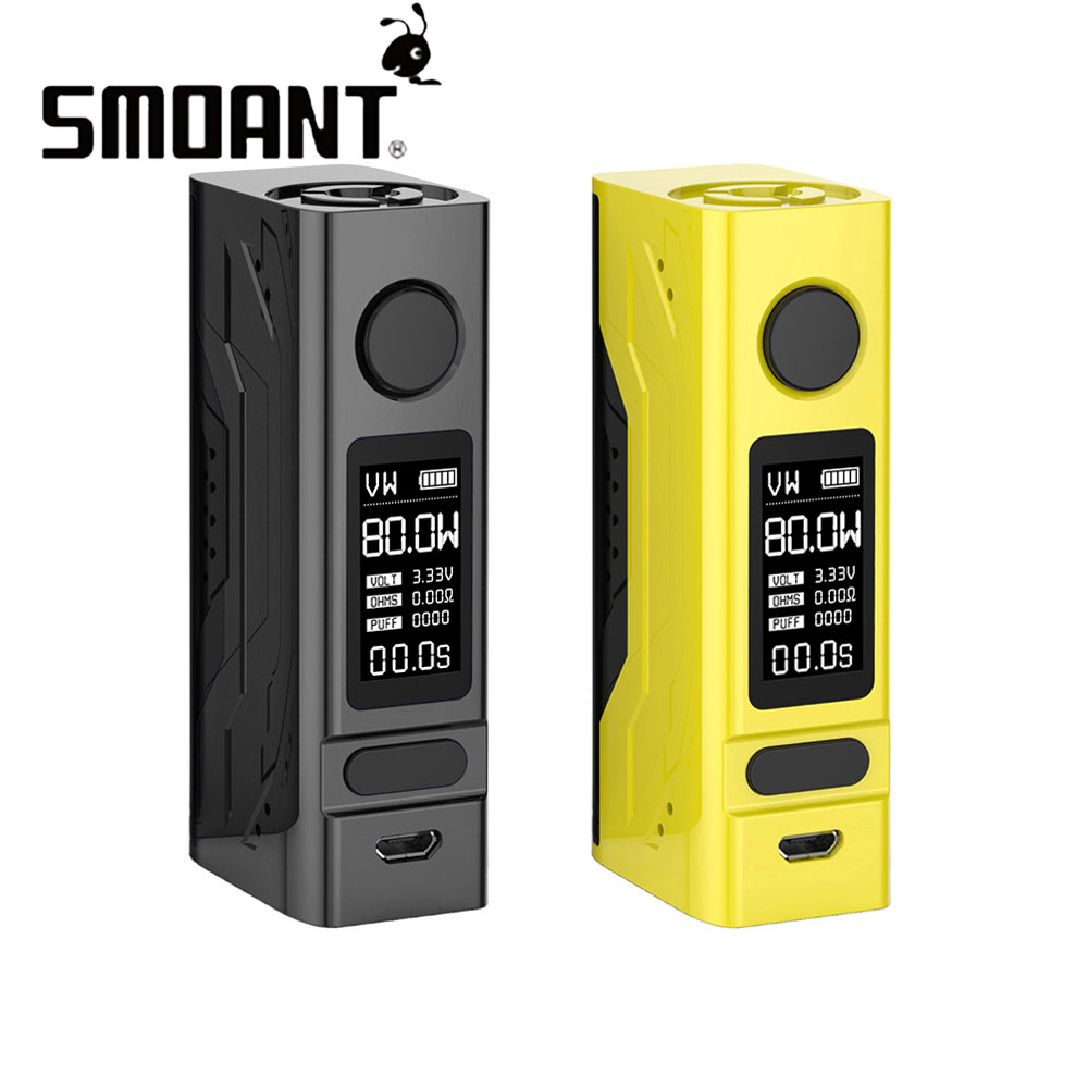 80W Smoant Battlestar Mini 80W TC Box MOD with 0.96-inch OLED Screen & Durable Magnets Back Cover E-cig Box Mod No 18650 Battery80W Smoant Battlestar Mini 80W TC Box MOD with 0.96-inch OLED Screen & Durable Magnets Back Cover E-cig Box Mod No 18650 Battery
