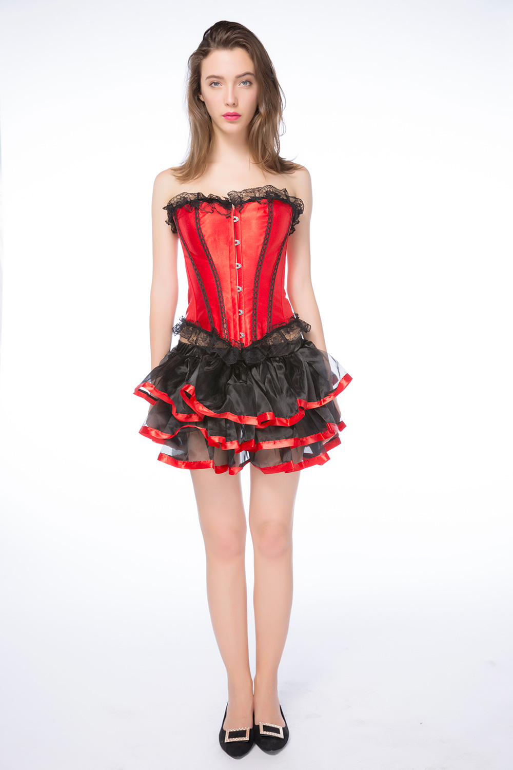 8eb78c60a9ace Women sexy Lingerie Bustiers Red steampunk corset Lace Up with Tutu Skirt  Lingerie set Burlesque Korset over size S 6XL-in Bustiers   Corsets from  Underwear ...